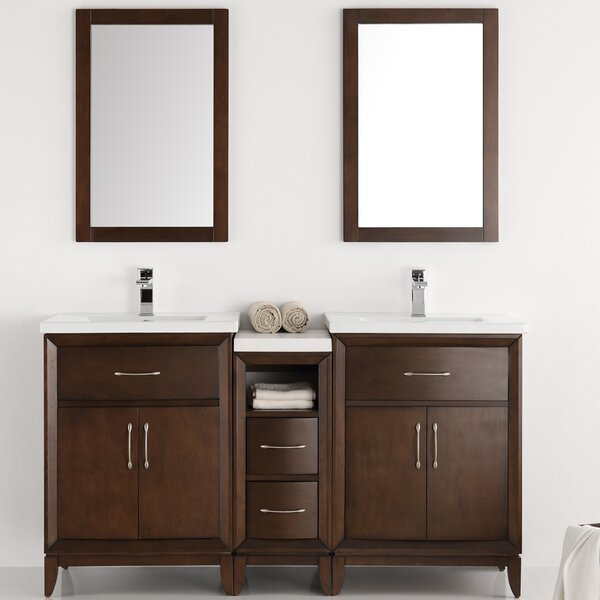 Cambridge 60 Double Bathroom Vanity Set with Mirror by Fresca