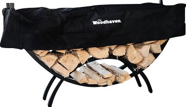 Crescent Log Rack by Woodhaven
