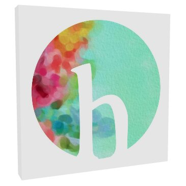 Initial Watercolor Side Bloom by Karisa Gilmer Canvas Art by Lyla Marie Designs