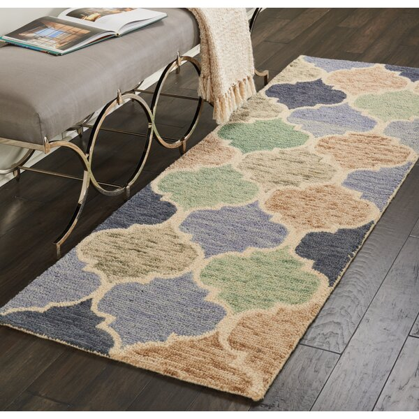 Beckman Hand-Tufted Wool Blue/Ivory Area Rug