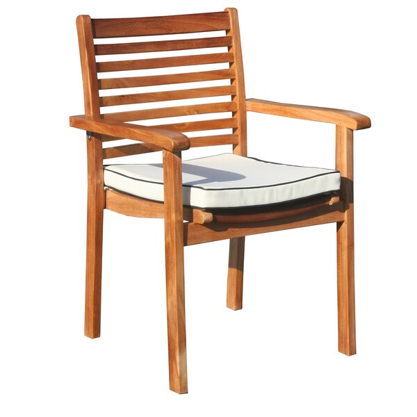 Freshour Italy Stacking Patio Dining Chair with Cushion by Darby Home Co