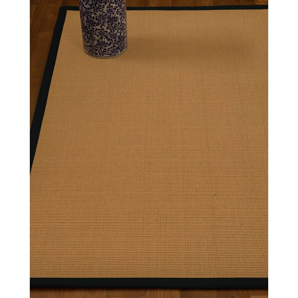 Magruder Border Hand-Woven Wool Blend Beige/Onyx Area Rug by Gracie Oaks