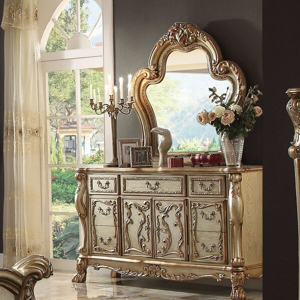 Welliver 7 Drawer Combo Dresser With Mirror By Astoria Grand