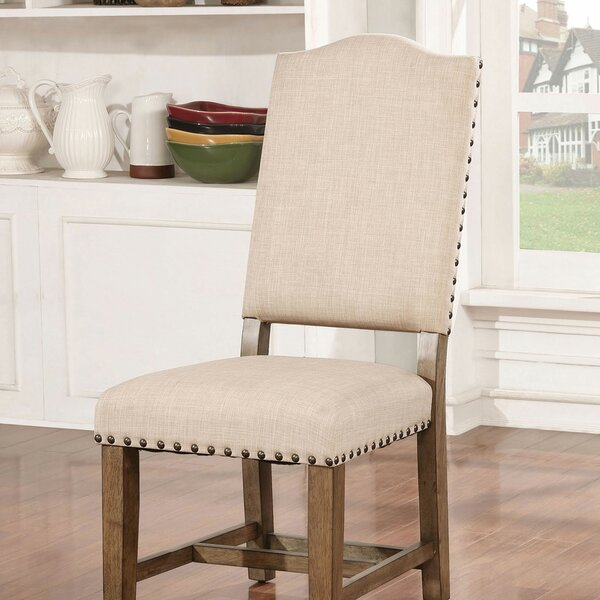 Katarina Upholstered Side Chair In Light Oak/Ivory (Set Of 2) By One Allium Way