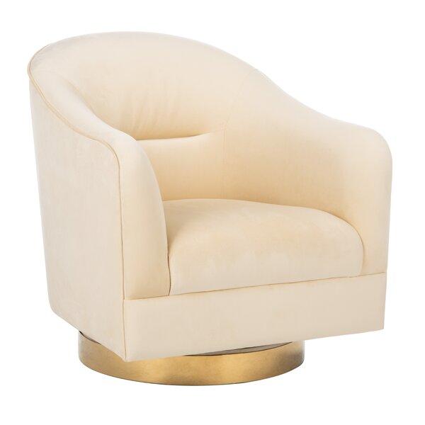 Dunagan Swivel Barrel Chair by Everly Quinn