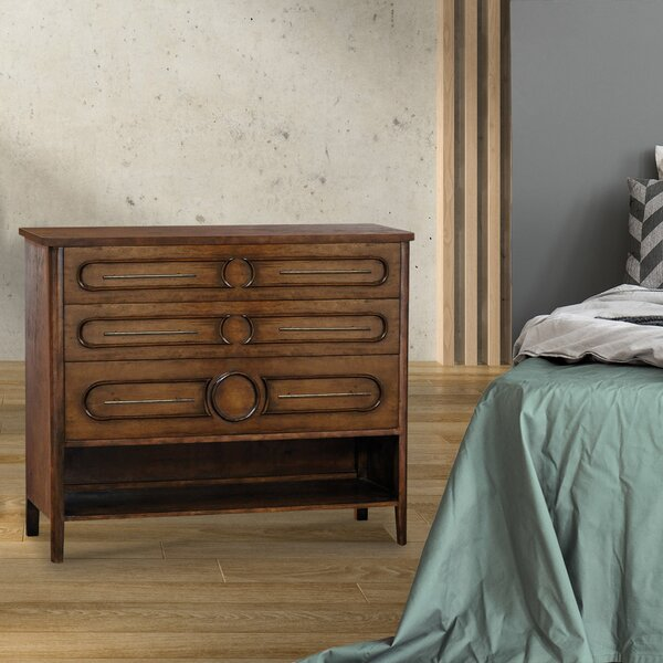 Treder 3 Drawer Combo Dresser by Bloomsbury Market