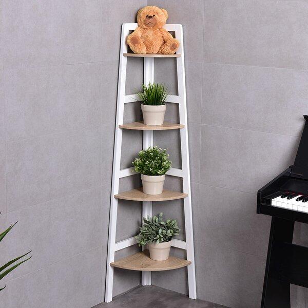 Verville 4-Tier Wood Ladder Wall Display Corner Unit by Ebern Designs