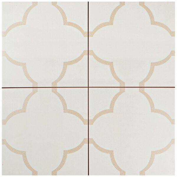 Cumulus 17.63 x 17.63 Ceramic Field Tile in Cream/Beige by EliteTile