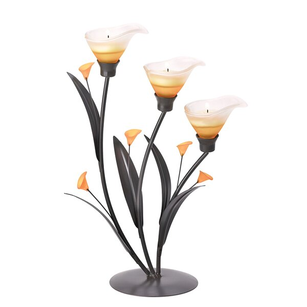 Sunset Lily Tealight Trio by Fleur De Lis Living