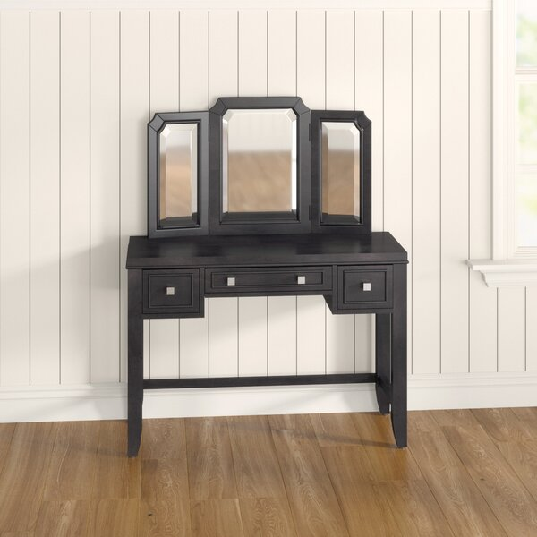 Romsey Vanity with Mirror by Three Posts Teen