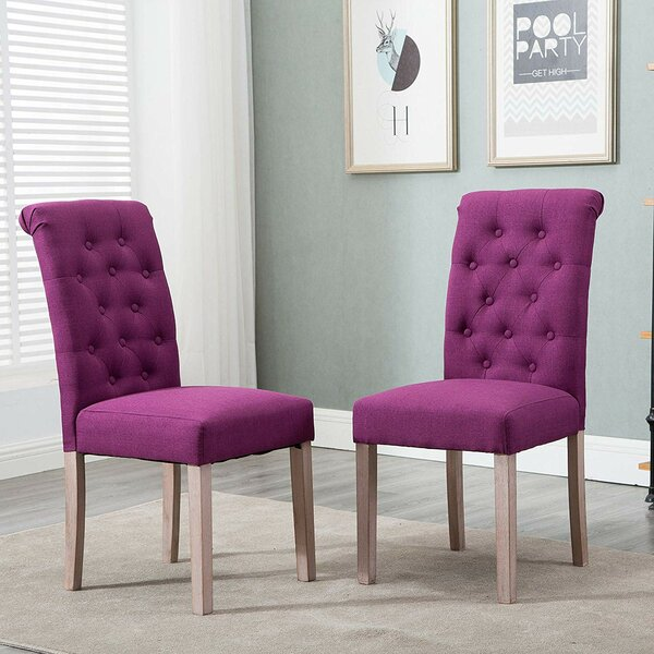 Tambellini Tufted Upholstered Parsons Chair In Purple (Set Of 2) By Charlton Home®