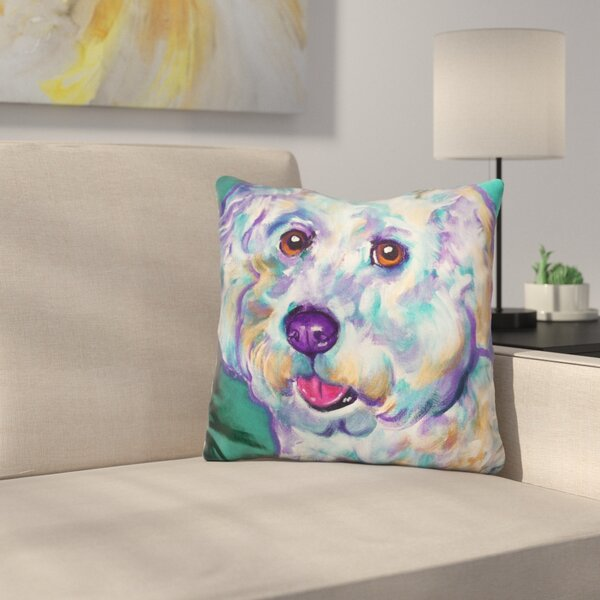 Bichon Ruben Throw Pillow by East Urban Home