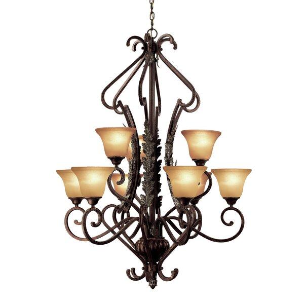 Weitzman 9 - Light Shaded Tiered Chandelier by Astoria Grand Astoria Grand