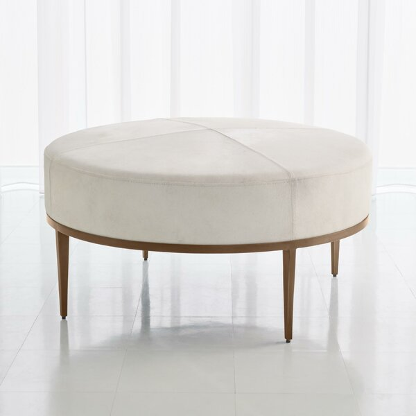 Urban Leather Ottoman By Global Views