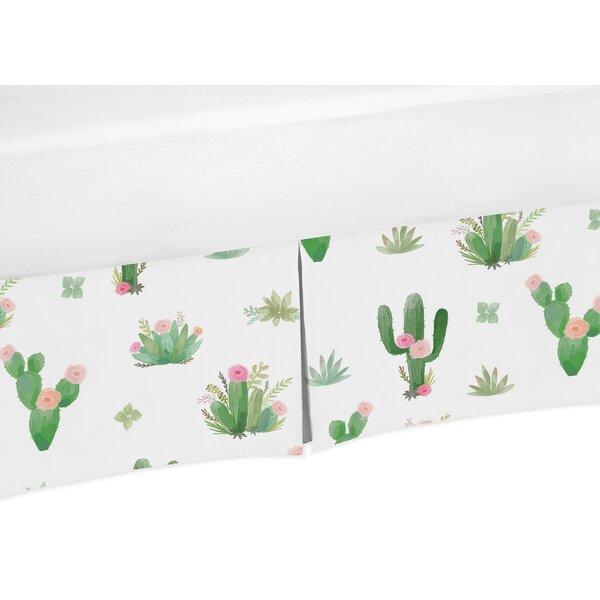 Cactus Floral Toddler Bed Skirt by Sweet Jojo Designs