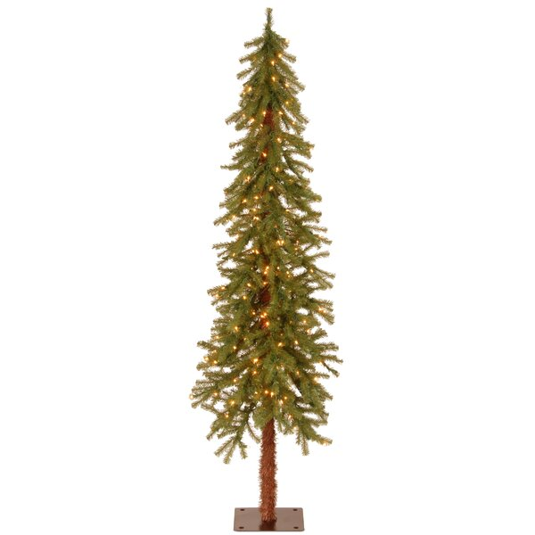Hickory Cedar Green Artificial Christmas Tree with 150 Clear Lights by National Tree Co.
