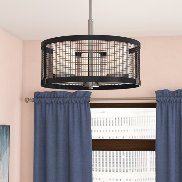 Didama 3 - Light Shaded Drum Chandelier By Ivy Bronx