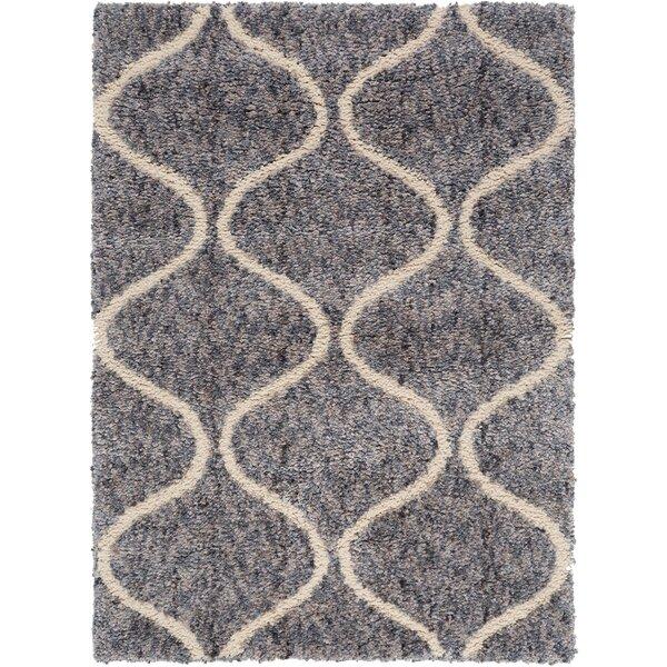 Chelsea Trellis Blue Area Rug by Christian Siriano