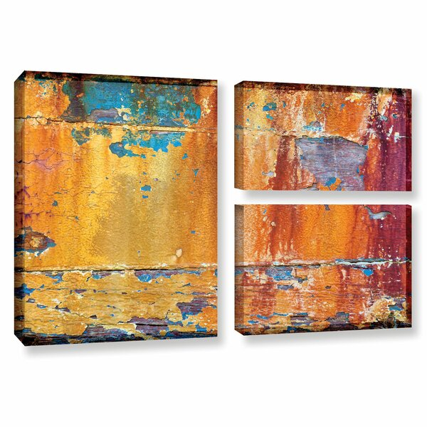 Painted Wood 2 3 Piece Photographic Print on Wrapped Canvas Set by Loon Peak