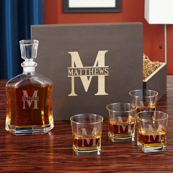 Kaity Custom Whiskey 6 Piece Beverage Serving Set by Darby Home Co