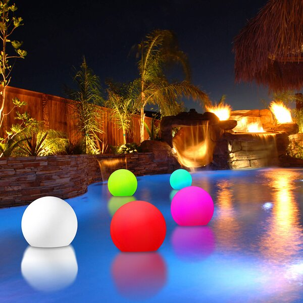 Modern Home Poolside and Floating Light by Vandue Corporation