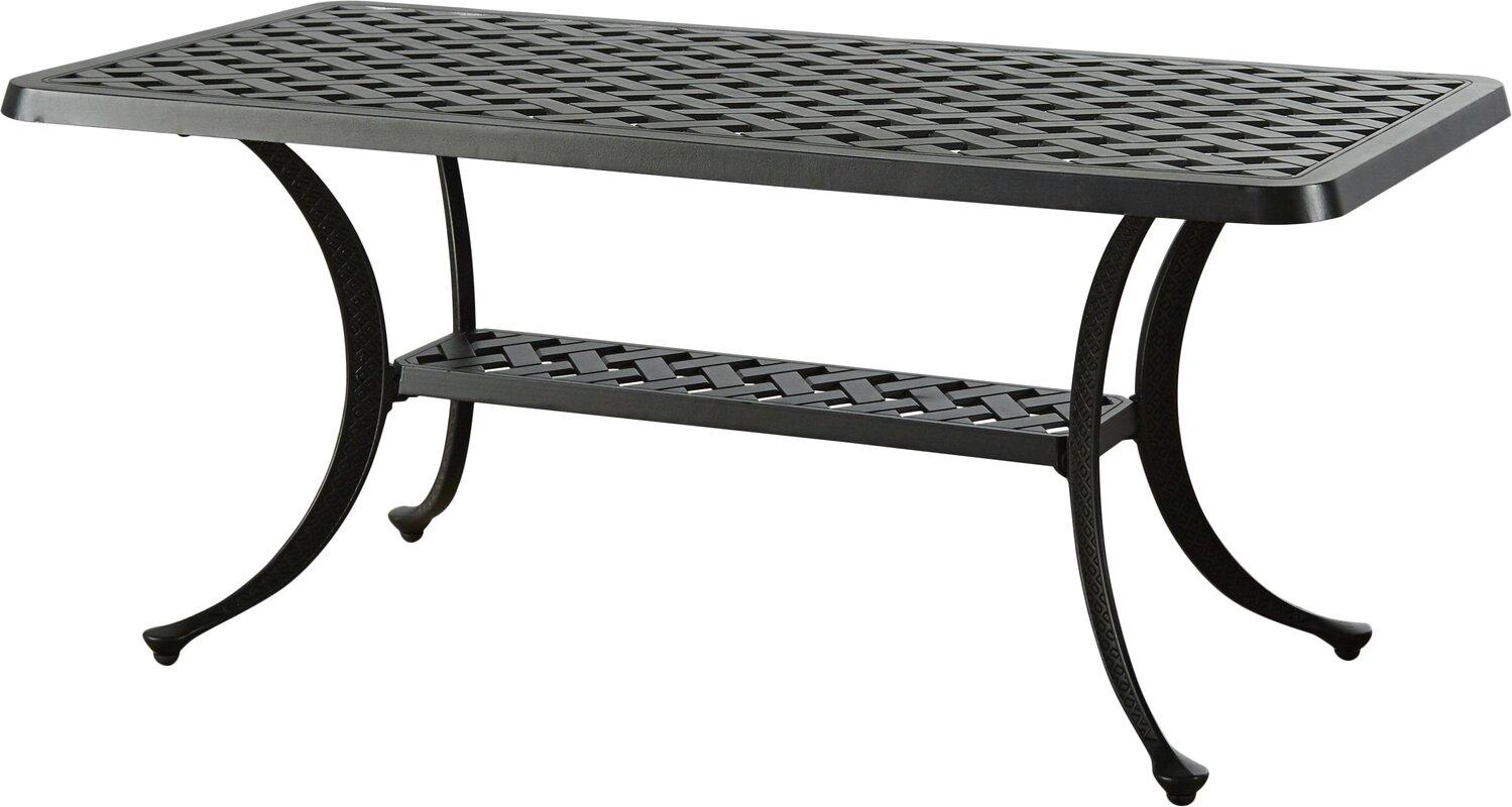 Lomax Cast Aluminum Rectangular Coffee Table