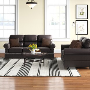 Boyster 2 Piece Faux Leather Living Room Set by Charlton Home®