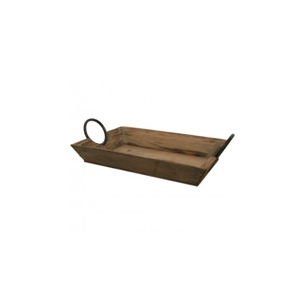 Chasity Wooden Serving Tray by Millwood Pines