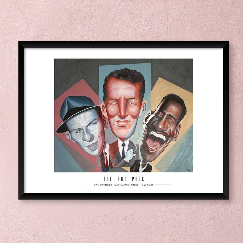 Artography Limited \'The Rat Pack\' Framed Drawing Print Poster   Wayfair