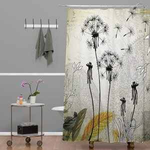 Modern & Contemporary Extra Long Shower Curtain | AllModern