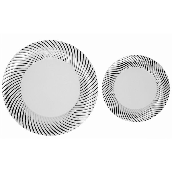Shorey Swirl 50 Piece Heavy Duty Premium Dinnerware by Mercer41