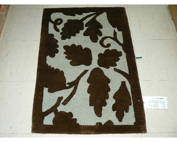 Mcclay Tibetan Hand-Knotted Light Blue/Brown Area Rug by Winston Porter