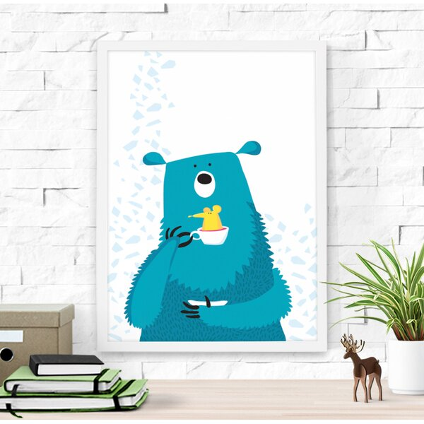 Cute Bear and Mouse Paper Print by Dilemma Posters