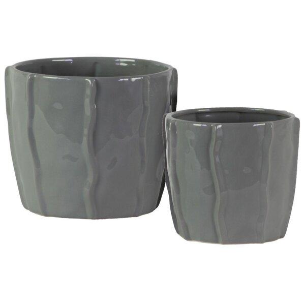 Stamper 2-Piece Ceramic Pot Planter Set by Highland Dunes