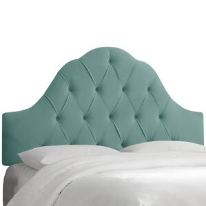 Hoddesdon Tufted Velvet Upholstered Panel Headboard by House of Hampton