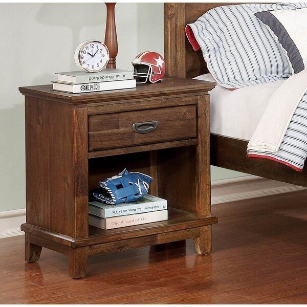 Lucien 1 Drawer Nightstand by Millwood Pines