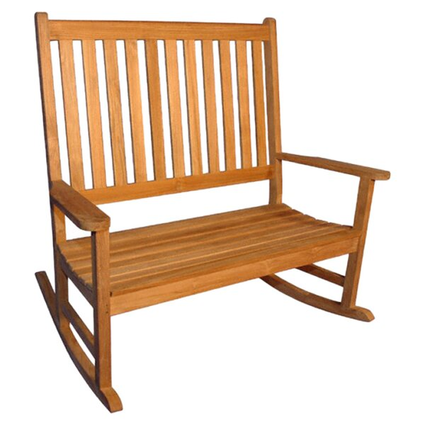 Teak Double Rocking Garden Bench by Regal Teak
