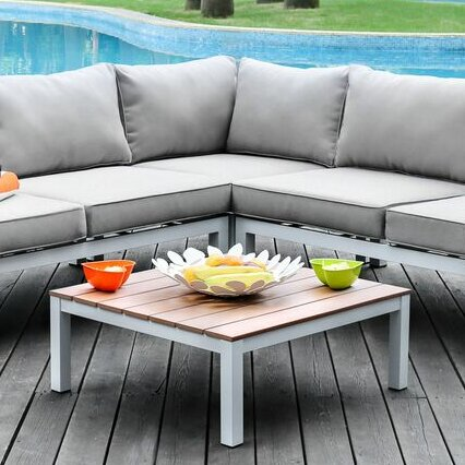 Coriander Sectional Set with Cushions by Wade Logan