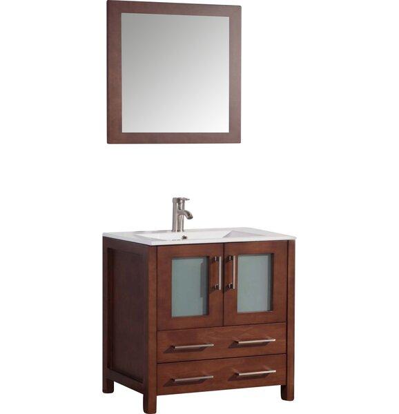 Nevels 30 Single Bathroom Vanity Set with Mirror by Ebern Designs