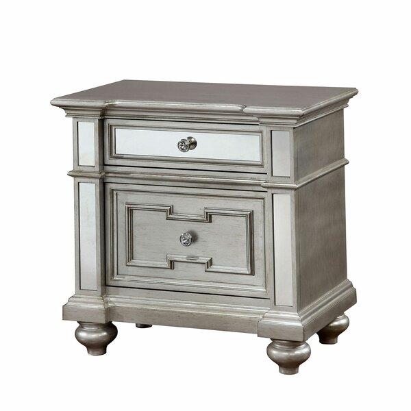 Amberly 2 Drawer Nightstand by House of Hampton