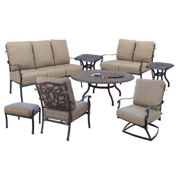 Battista 8 Piece Sofa Set with Cushions by Fleur De Lis Living