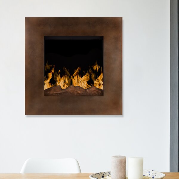 Paladino Backlit Wall Mounted Electric Fireplace by Wrought Studio