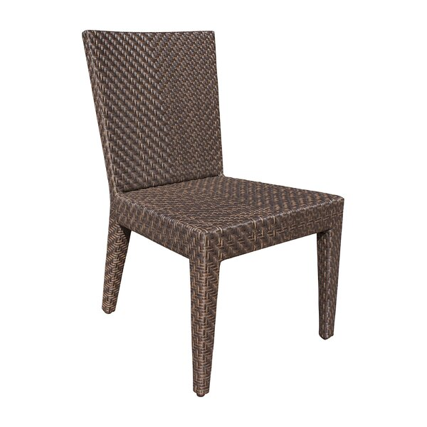 Ferraro Stacking Patio Dining Chair with Cushion by Andover Mills Andover Mills