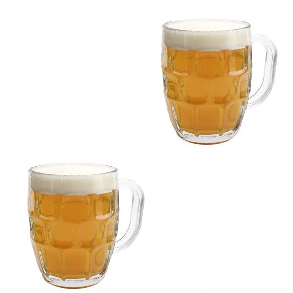 Susan Dimple Pub Stein Tankard Beer 20 Oz. Pint Glass (Set of 2) by Winston Porter