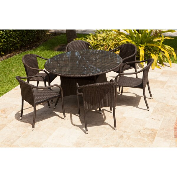 Rorie 7 Piece Rattan Multiple Chair Seating Group (Set of 7) by Brayden Studio
