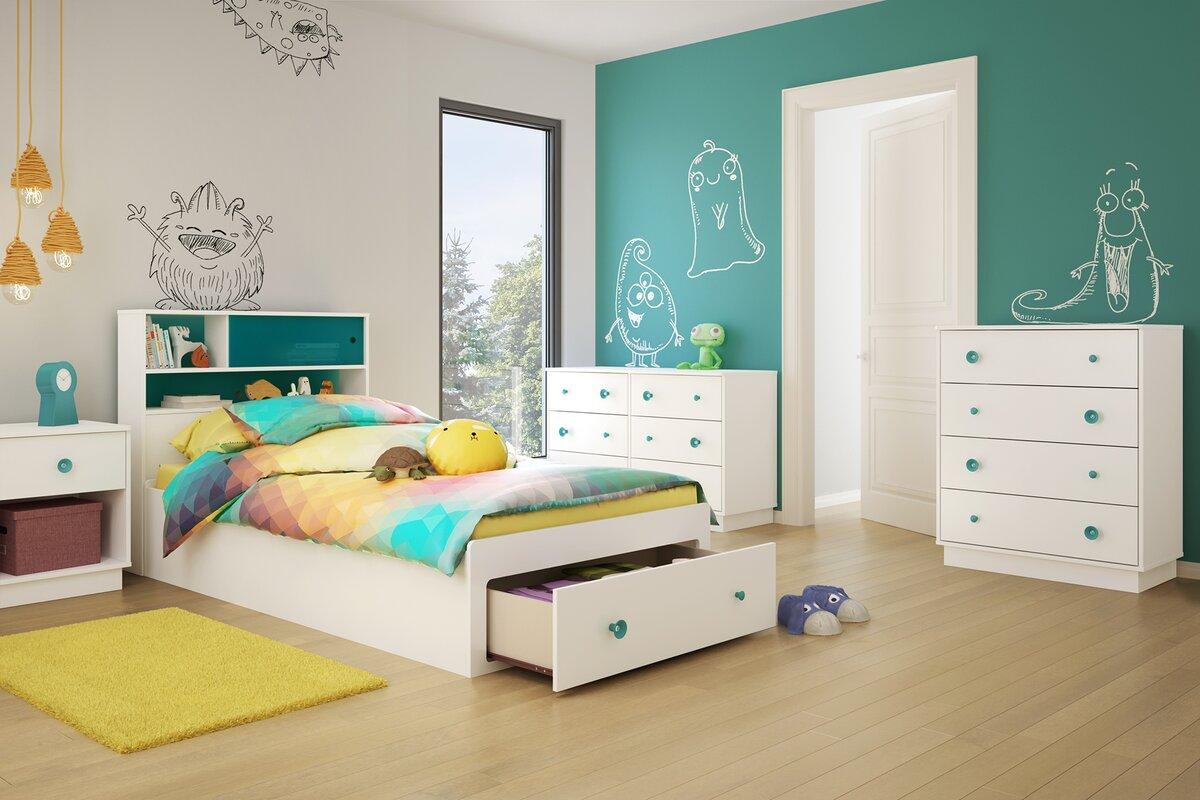 Little Monsters Twin Platform Configurable Bedroom Set