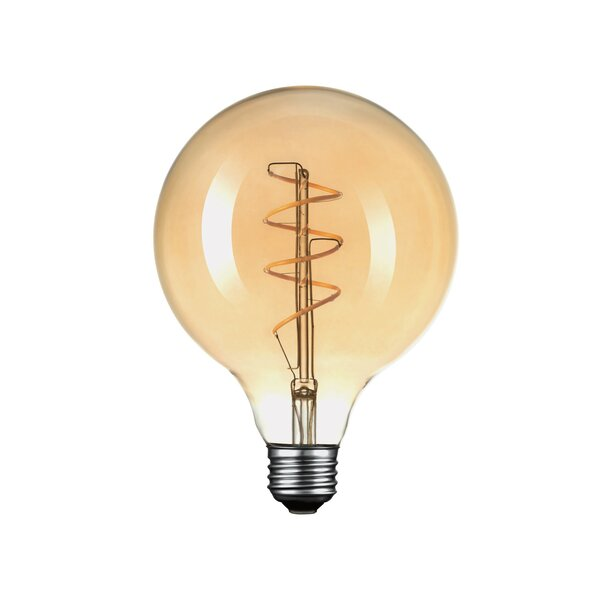 40W Amber E26/Medium (Standard) LED Vintage Filament Light Bulb by Globe Electric Company