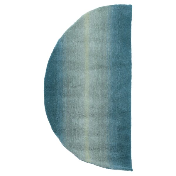 Belding Half Circle Hand-Tufted Blue Area Rug by Brayden Studio