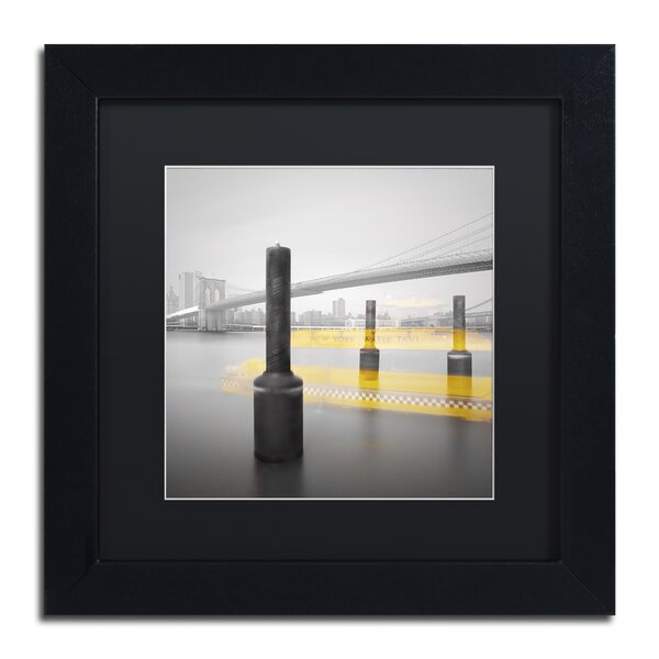New York Water Taxi by Moises Levy Framed Photographic Print by Trademark Fine Art