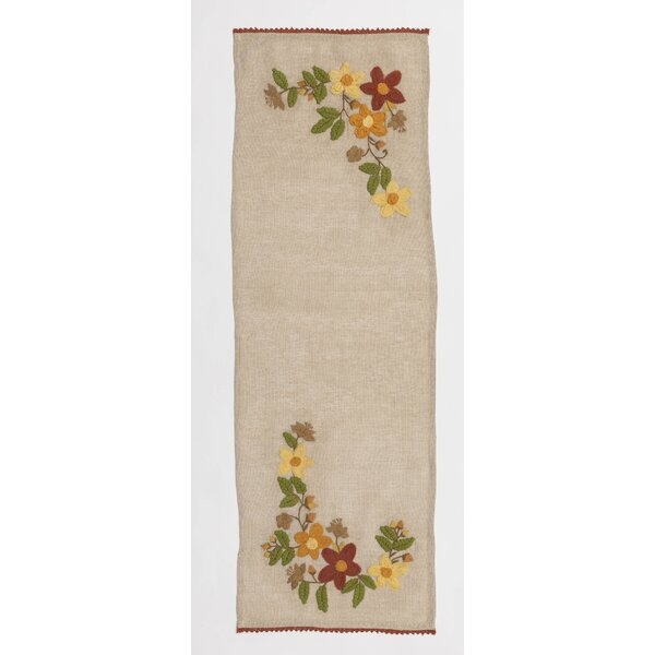 Coster Homespun Embroidered Table Runner by August Grove